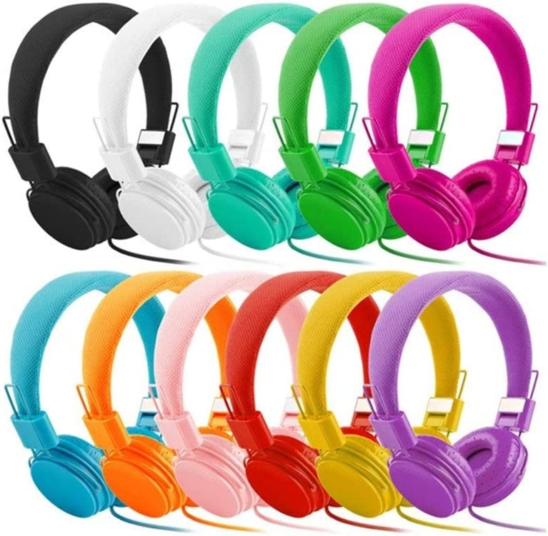 Fengdp Bluetooth Stereo Bass Kids Headphones With Microphone Music Earphones Children Headsets Foldable Portable (Color : Yellow) Black