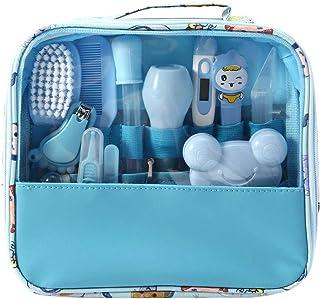 MIsha Neceser de Aseo de Bebé, 13 Unids/Set Kit higiene bebe Neceser aseo para tu bebé, Kit de cuidado de bebé portátil bebes regalos originales (Azul)