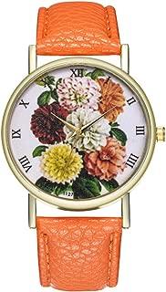 Ladies Wrist Watches on Clearance,Female Watch for Small Wrist,Dress Watch,Roman Numerals Watch Women Bracelet Watch (Orange)