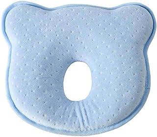 shentaotao Almohada bebé Infantil Apoyo Oso Forma de cojín Suave Dormir del bebé Azul Soporte