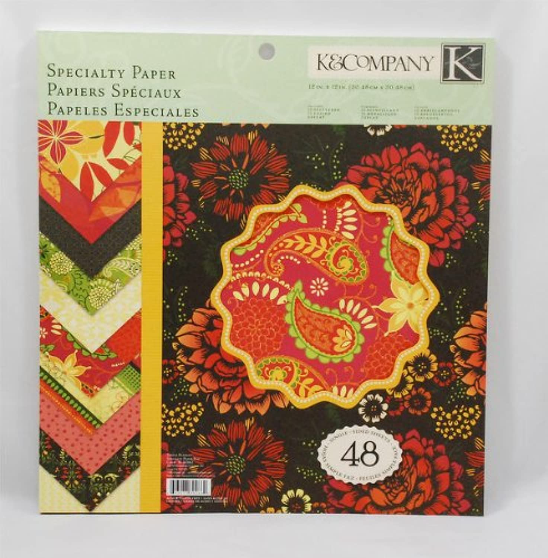 K&Company 30-302662 30-302662 30-302662 Specialty 12-Inch x 12-Inch Paper - 48-Sheets Simply Scarlet by K&Company B00335W958 |   92c2b7