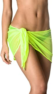 Coqueta Swimwear Sexy Mesh Cover up Beach Sarong Pareo Canga Swimsuit Wrap