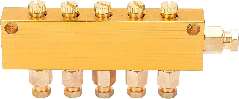 Brass Oil Distributor 5/6 Way Adjustable Lube Oil Piston Distrib