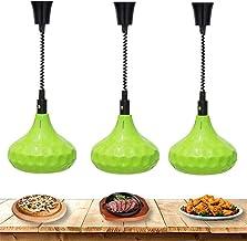 ZBBN Lampe chauffante pour Aliments Chauffe-Plats commerciaux à Une tête Suspendue Lampe chauffante pour Aliments Buffet L...