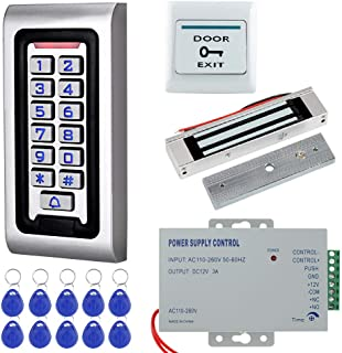 HFeng Door Access Control System Kit IP68 RFID Keypad Waterproof Outdoor + 180KG/320lbs Electromagnetic Electric Magnetic ...