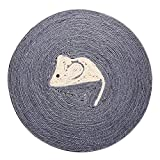 Griffoir de chat, tapis de grattage de chat en sisal naturel, jouets pour animaux, poteau à chat de protection, protection de grattoir de protection pour le repos du massage corporel avec griffes