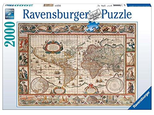 Ravensburger puzzel 2000 delen wereldkaart, antiek 16633