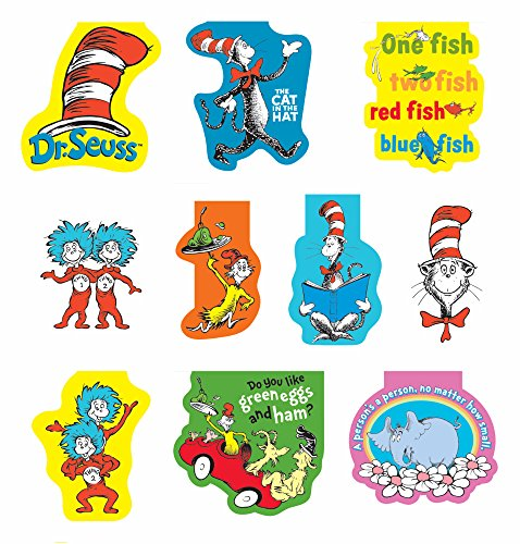 Raymond Geddes Dr. Seuss Magnetic Bookmark, 50 Pack (68502)