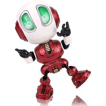 Pro Konoko ミニーロボット 会話智能ロボット ロボットおもちゃ 男の子 LED付け ストレス解消 グッズ 3歳以上の男の子 女の子 誕生日プレゼント 赤