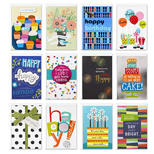 Hallmark Assorted Birthday Greeting Cards (12 Cards and Envelopes) Now $8.11