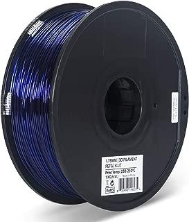 Inland 1.75mm Translucent Blue PETG 3D Printer Filament - 1kg Spool (2.2 lbs)
