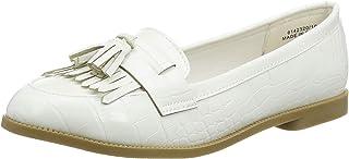 Mid Brown 24 Mocassins Femme New Look Kairy 7-IC PU Croc Loafer s204 Marron 37 EU