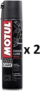 Fett Spray Schmiermittel Kette Motul Chain Lube Politur Road MC Care C22Spraydosen 400ml