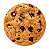 xcvnxtgndx Chip Cookie, Delicious Chocolate Chip Cookie Round Mouse Pad