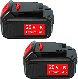 2PACK 6.0Ah 20 Volt DCB205 Battery Lithium-ion Replacement for Dewalt 20V Battery DCB200 DCB206 DCB206-2 DCB204 DCB204BT-2 DCB203 DCB201 DCB205-2 DCB180 DCD985B DCD771C2 DCS355D1 DCD790B