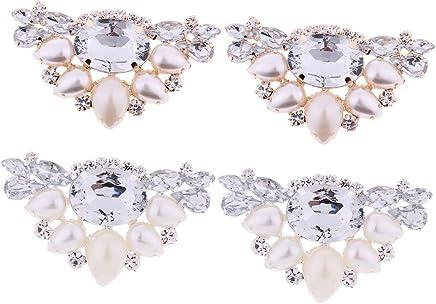 1 paar Kristall Strass Schuh Clips Frauen Hochzeit Schuh Schnalle Dekoration