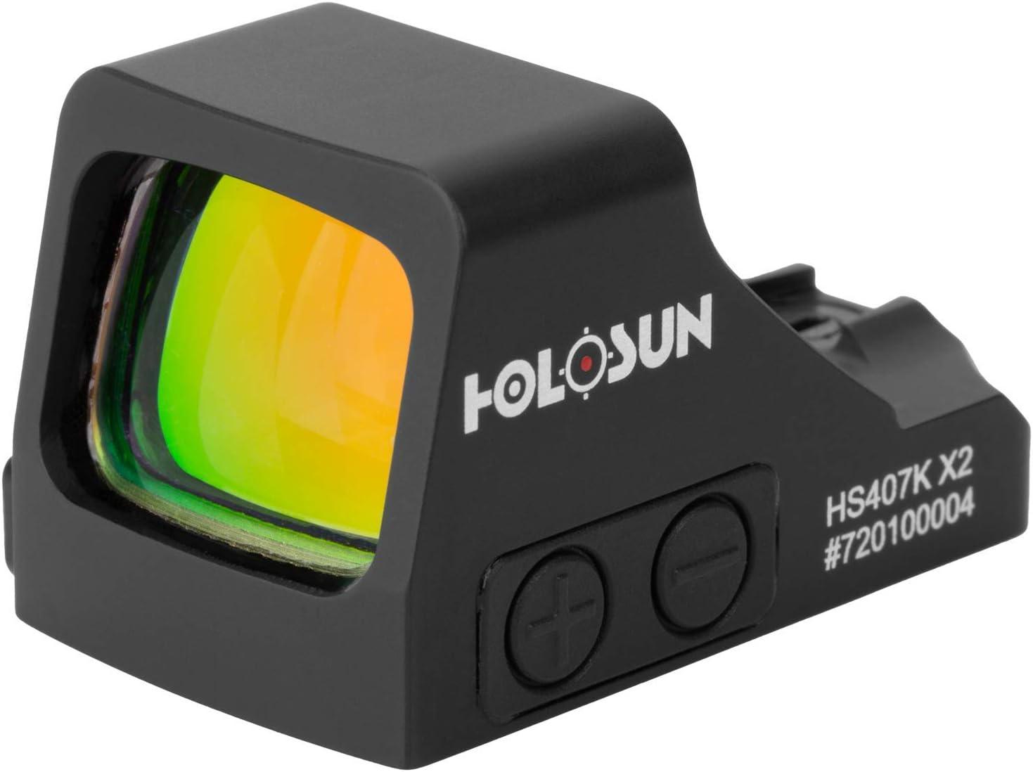 HOLOSUN 送料無料お手入れ要らず - HS407K-X2 メーカー再生品 Classic Open Reflex Red Sight MOA Dot 6 dot