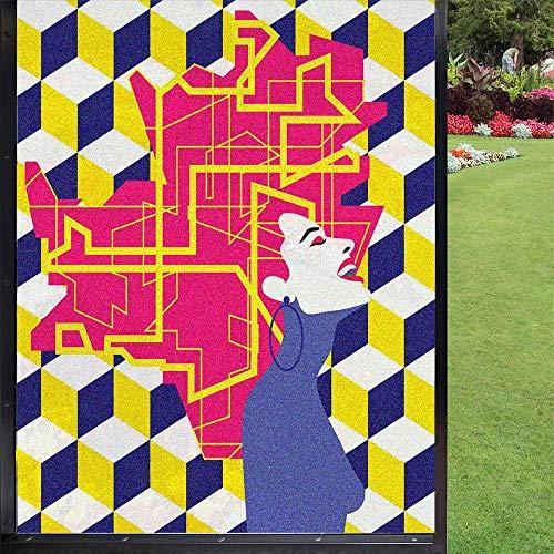 Cover Girl - Película de seguridad abstracta para ventana (60 x 90 cm), diseño de chica