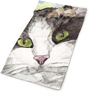 TPSXXY Watercolor Noble Cat Gifts Face Mask Neck Gaiter Sun Shade Shield Bandanas for Dust Outdoors Sports Festivals