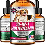 Vetflix Pet Vitamins 10 in 1 - Made in USA - Glucosamine for Dogs &...