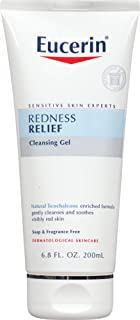 Eucerin Redness Relief Cleansing Gel - Fragrance Free, Gently Cleanses Sensitive Skin - 6.8 fl. oz. Tube