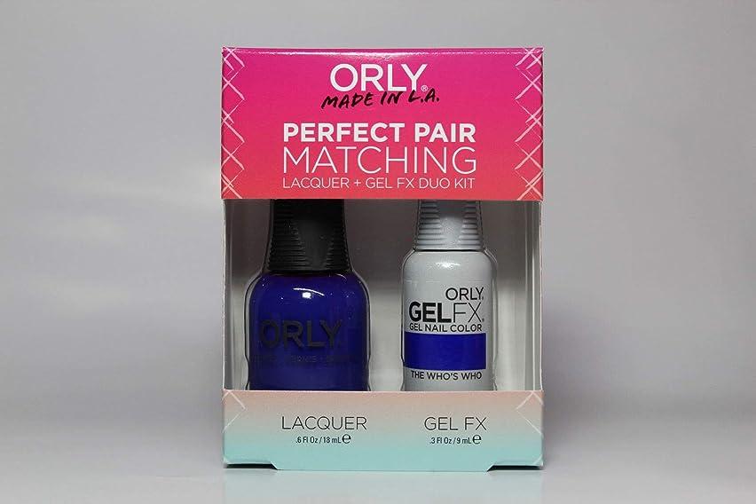 脱獄振るう引き出すOrly - Perfect Pair Matching Lacquer+Gel FX Kit - The Who's Who - 0.6 oz / 0.3 oz