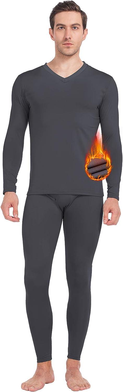 MANCYFIT Thermal Underwear for Men Long Johns Set Fleece Lined Ultra Soft
