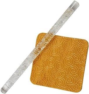 Acrylique Transparent Embossing Pâte Roulant Broche, Anti - Adhérent Embossing Cuisson Bâton, Rouleau pour Sucre Fondant C...