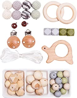 Sing Ring Baby Arch Pram Crib Activity Wooden Animal Dummy Clip Chain Pacifier Soother Holder Handmade Bracelet Rattle Sensory Teething Toys