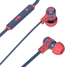 Tribe Marvel - Auriculares in-ear con cable y micrófono I In-Ear estéreo para para Iphone, Android, Movil, PS4, XBOX, PC, Computador - diseño Spiderman