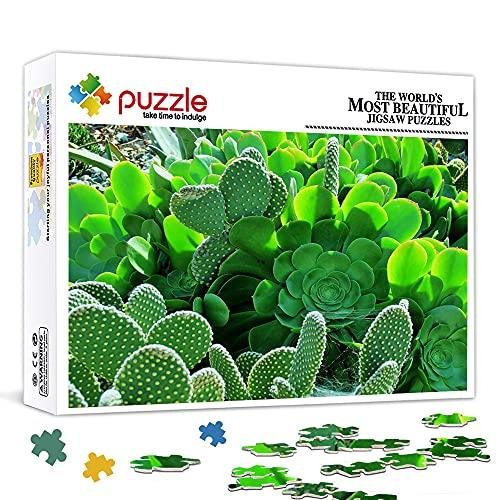 Mini 1000 Stück Puzzle für Erwachsene Kaktus Pappe Puzzle 1000 Stück Puzzle für Kinder Erwachsene Herausforderndes Spiel 38X26Cm