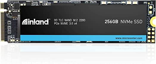 Inland Professional 256GB NVMe SSD M.2 2280 PCIe Gen 3.0x4 3D NAND Internal Solid State Drive, Read/Write Speed up to 1,900/1,100 MB/s, PCIe Express 3.1 and NVMe 1.3 Compatible (256GB)