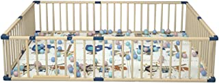 Yard Barrie Baby Child Playpen Pure Natural Pine Fence Smooth Surface Baby Happy Mother Assured Kids Activity Centre 150 200cm