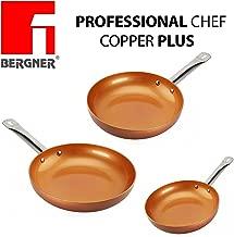 Original Chef Copper Plus - Juego 3 sartenes de cobre súper