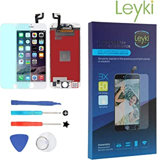 LEYKI LCD Touch Screen Replacement Digitizer for iPhone 6S 4.7'' Screen Display Assembly Full Set Repair Tool Kit (White)