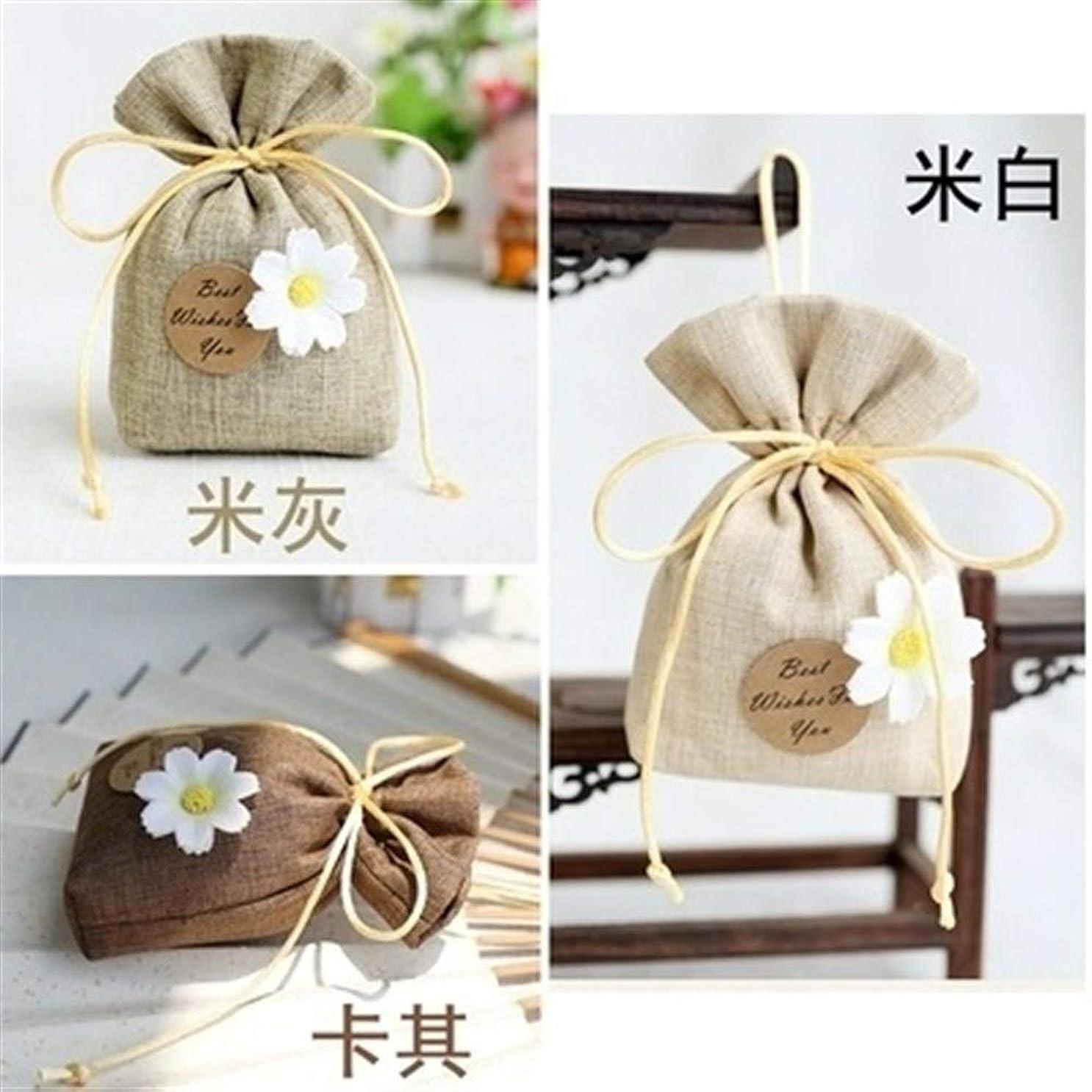 一致胸不名誉Gardenia/Clove/Gulongの芳香の芳香の芳香剤の香料入りの磨き粉、ワードローブのための自然な芳香の芳香の芳香袋、車、 (Color : Khaki, Scent Type : Gardenia)