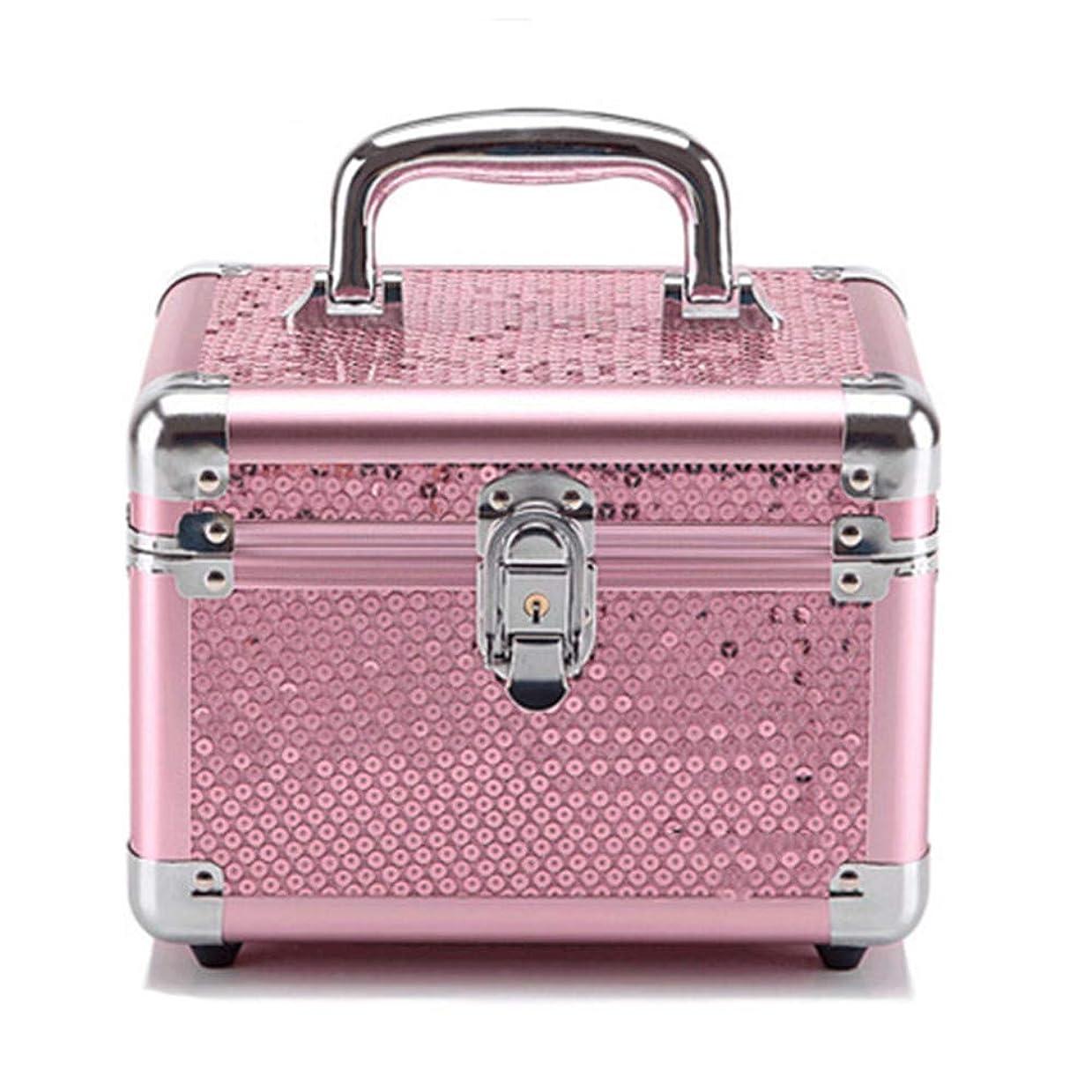 プライバシー電子レンジバリー特大スペース収納ビューティーボックス 美の構造のためそしてジッパーおよび折る皿が付いている女の子の女性旅行そして毎日の貯蔵のための高容量の携帯用化粧品袋 化粧品化粧台 (色 : Rose Red(S))