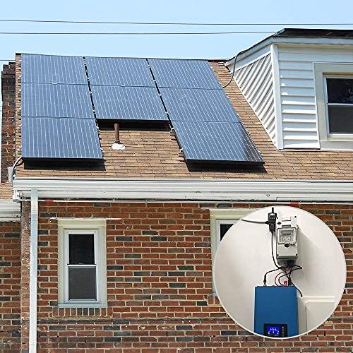 ECO-WORTHY 1000W Solar Grid Tie Inverter MPPT Power Limiter DC 22 to 65V Solar Input AC 110V PV System
