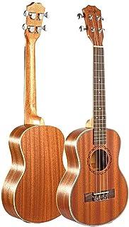 LOIKHGV Guitarras- Tenor Acoustic Electric Ukulele 26 Inch Guitarra 4 Cuerdas Ukulele Handcrafted Wood Guitarist Mahogany, Wood Color, 26 Pulgadas