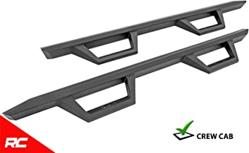 Rough Country XL2 Nerf Bar Drop Steps Compatible w/ 2019 Chevy Silverado GMC Sierra 1500/2020 2500HD Crew Cab 11003