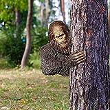 The Bashful Bigfoot Tree Statue Whimsical Cartoon Orangutan Sculpture Tree Hugger Sasquatch Garden Yard Art Tree Decoration,Bigfoot Tree Hugger,Bigfoot Statue,Bigfoot Merchandise,Bigfoot Tree Statue
