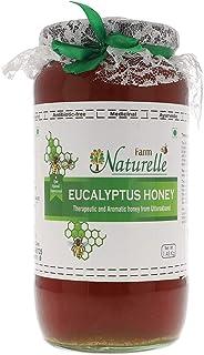 Farm Naturelle-Virgin 100% Pure Raw Natural Un-Processed Eucalyptus Forest Honey 1.45 KG Big Glass Jar
