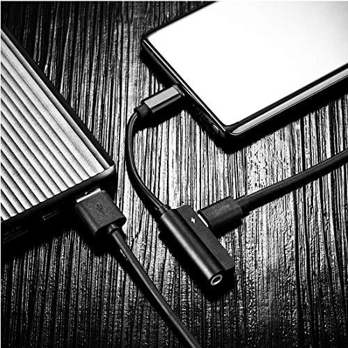 Práctico 0.12m Metal Tipo-C Mujer + 3,5 mm Hembra a Macho de Tipo C de Escucha y Carga de Audio 2 en 1 Cable, for la Galaxia, Huawei, Xiaomi, LG, HTC y Otros teléfonos