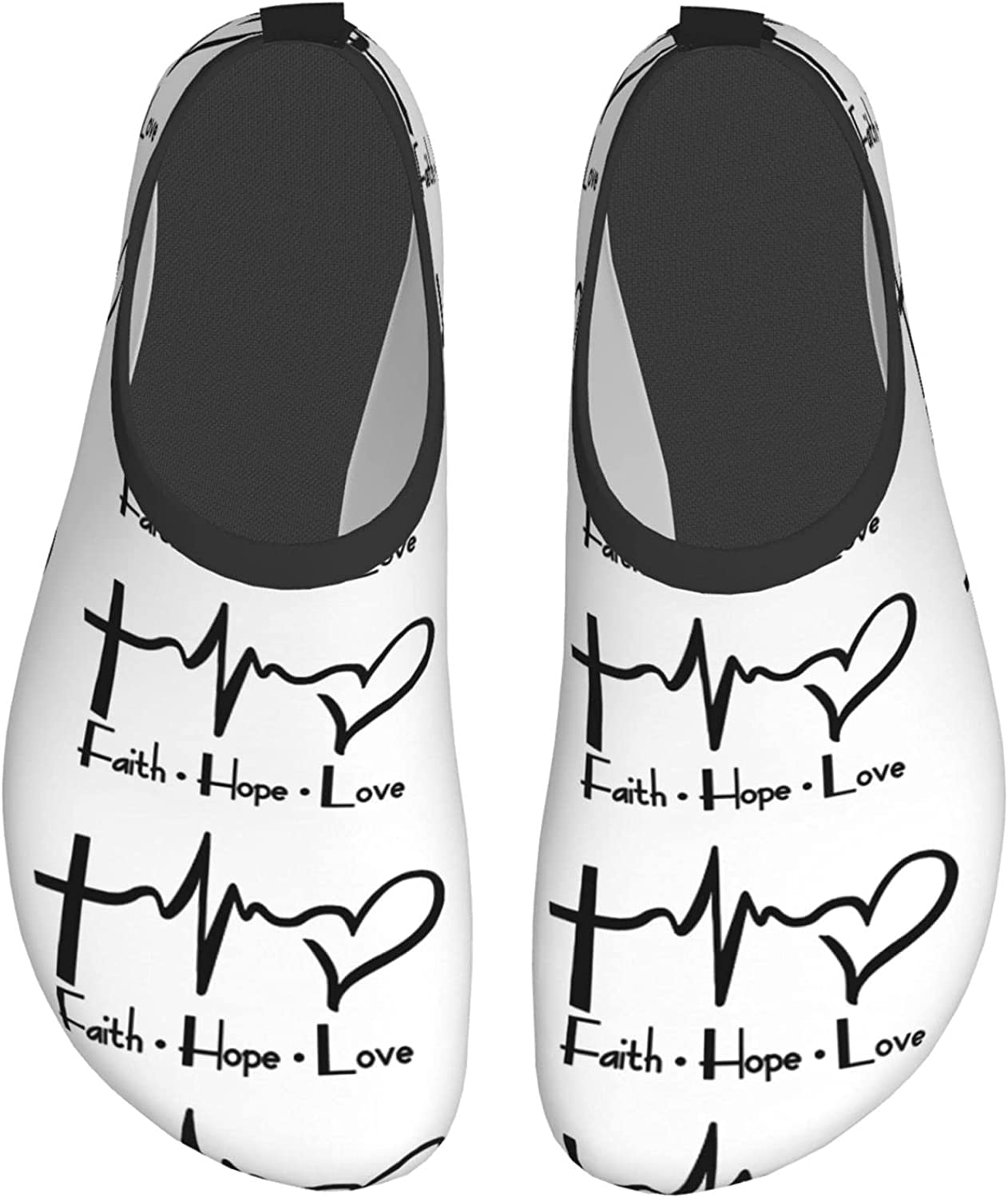 Faith Hope Love Christian Men's Womans Water Shoes Beach Shoes Quick Dry Pool Shoes