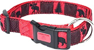 "Hamilton Adjustable Dog Collar Ribbon Overlay, 1"" x 18-26"", Back Country Red"