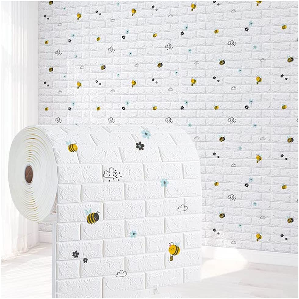 WANGF Wallpaper 3D Courier shipping free shipping Over item handling Wall Panel Self and Anti Waterproof Adhesive
