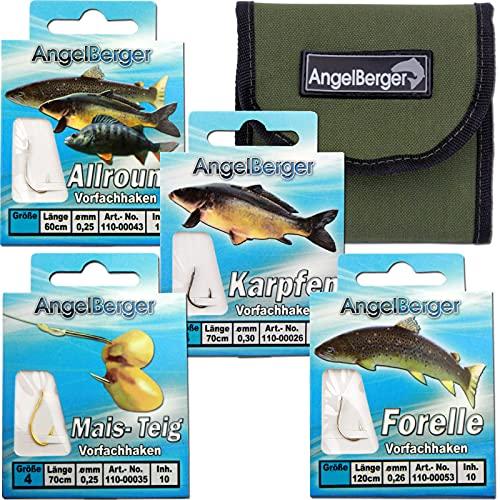 Angel-Berger Vorfach Hakensortiment mit Tasche
