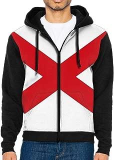 Alabama State Flag Hoodie Sweatshirt Cool Printed Hooded Pullover Pocket