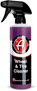 Adam's Wheel & Tire Cleaner (16oz) - Car Detailing Tire & Wheel Cleaner Car Cleaning Formula | Chrome Aluminum Clear-Coate...
