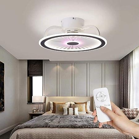 Ventilateur avec ventilateur de plafond de cristal de lampe avec LED Plafonniers 50W moderne dimmable Plafonniers vitesse réglable Vitesse avec télécommande Éclairage de ventilateur intérieur